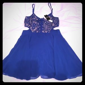 A'gaci Royal Blue Dress