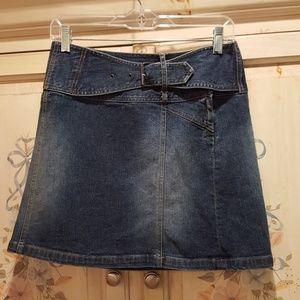 Cache Jean Skirt 0