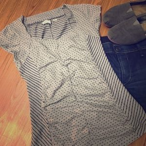 Anthropologie Patterned Ruched Top