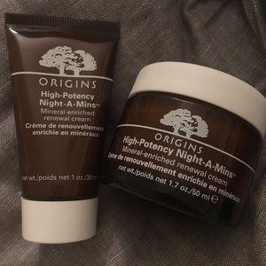 Origins high-potency Night A mins 30ml+ 50ml NWOT