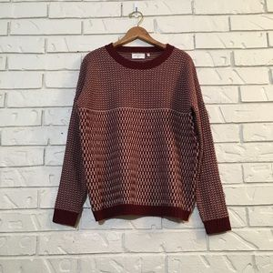 Everly Cozy Woven-Knit Sweater