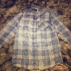 Denim Plaid Shirt