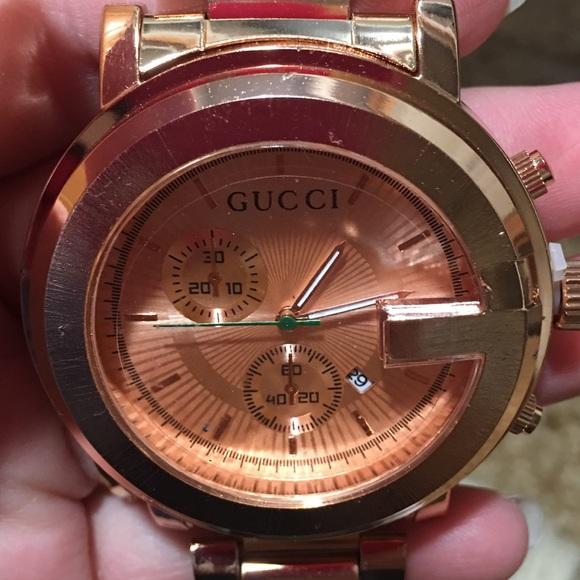 82e80874a14 Gucci Watch Rosegold For Men Women s