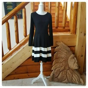 Madison Leigh Black and White Stripe Dress