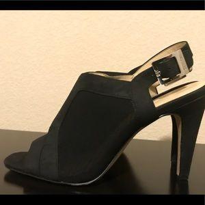 Calvin Klein Peep Toe Buckle Sandal