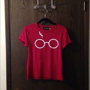 Harry Potter inspired burgundy t shirt