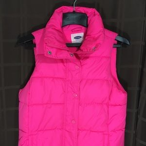 Old Navy Women's Puffer Vest Jacket Pink Sz M