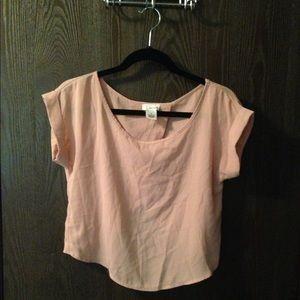 Soft pink blush chiffon blouse