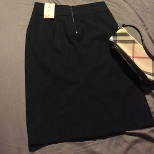 Burberry | virgin wool black pencil skirt | size 8