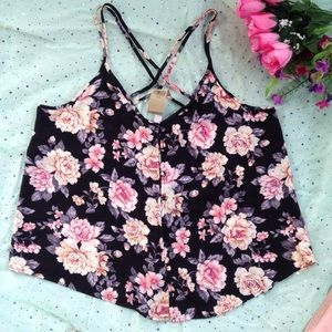 Strappy Floral Blouse