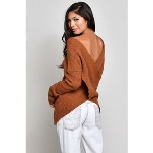 🎉COMING SOON🎉Reversible Cross Front Back Sweater