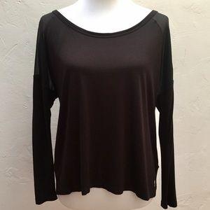 Juicy Couture Black Mesh Long Sleeve Top