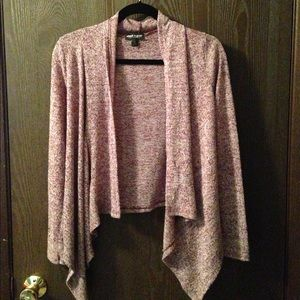 Maroon heathered cardigan