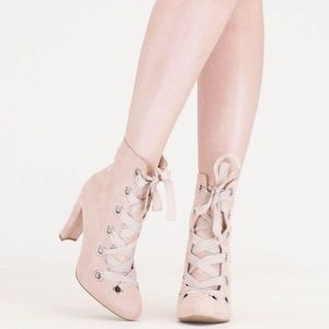 Shoes - Blush corset banger booties