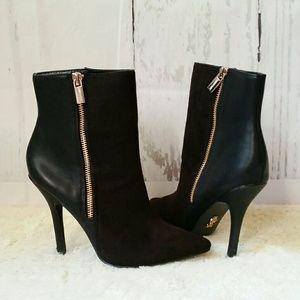 Jennifer Lopez Black Vaquera Zip Ankle Boots