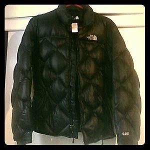 The North Face womans black coat M