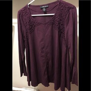 NWT Style & Co Bell Sleeve Top Size Small