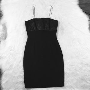 Bill Blass Black Silk Cocktail Dress Size 10