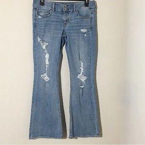 American Eagle Artist Flare Jeans Light Distress