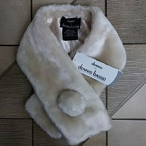 Just in! DENNIS BASSO Faux Fur Button Front Scarf