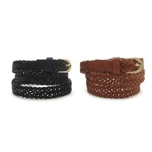 F21 - Braided Faux Leather Belt Set