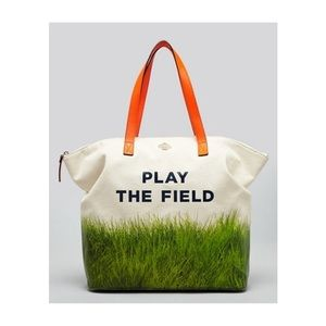"""Kate Spade """"Play the Field"""" call to action tote"""
