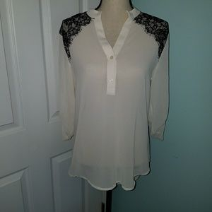 Lacey sheer top