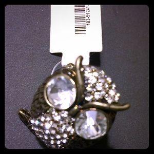 owl brasslike bling ring
