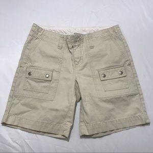 Gap Beige Cream Bermuda Cargo Shorts Size 6