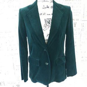 De Mura vintage emerald green velvet blazer