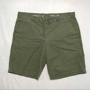 Khakis by Gap Olive Green Boyfriend Roll Up Shorts