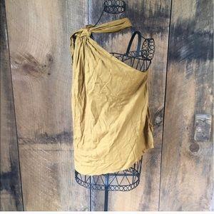 Zara Mustard Sleeveless Blouse