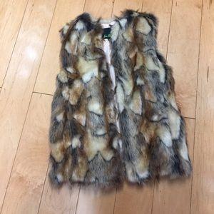 Sam Edelman faux fur vest XS