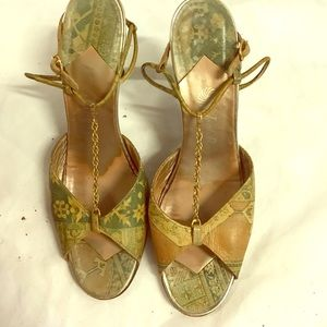 Vintage jack Rogers for Jacobson chain/heels