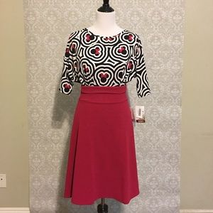 LuLaRoe Outfit, (S) Irma Tunic & (S) Azure Skirt