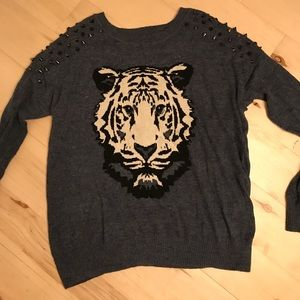 Sweaters - tiger studded sweater