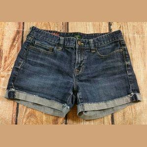 J Crew Hipslung Cuffed Jean Shorts Womens Size 2
