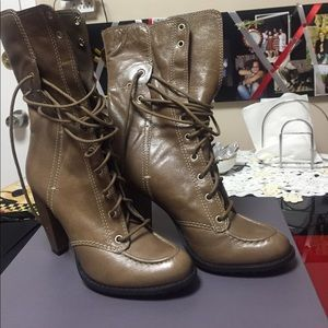 7 for all mankind 4' heels boots, size 8.5