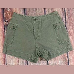 J Crew Cargo Shorts Womens Size 8 Green