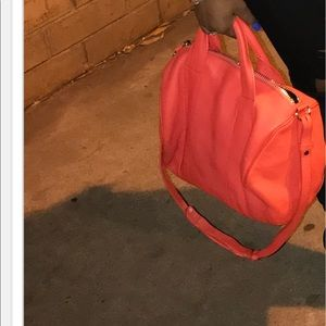 orange alexander wang bag