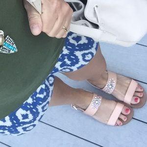 J Crew Factory Embellished Slingback Sandals Sz 9
