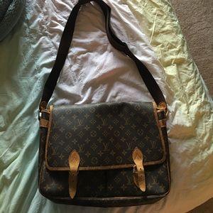 Louis Vuitton cross body giberciene large bag
