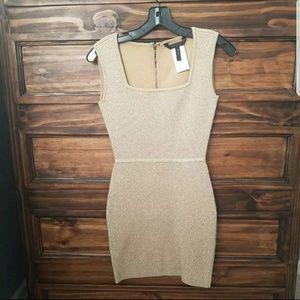BCBGMaxazria Gold Bodycon Dress Size XS
