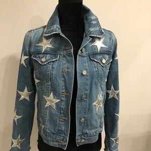 Jackets & Blazers - Denim silver star jacket size xs