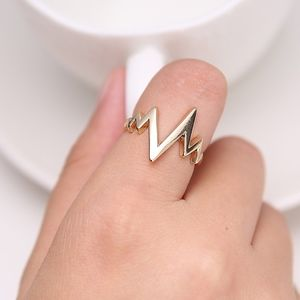 Coming Soon!! Gold Heartbeat Wave Midi Ring
