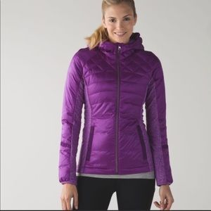 Lululemon Down for a Run jacket with hood
