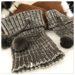 JUST IN! NWT Cozy Soft Gray Pom Pom Boot Cuffs
