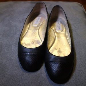 Jimmy Choo Whirl black leather ballet flats 39 1/2