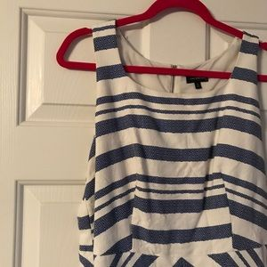 Blue and white stripe dress from The Limited