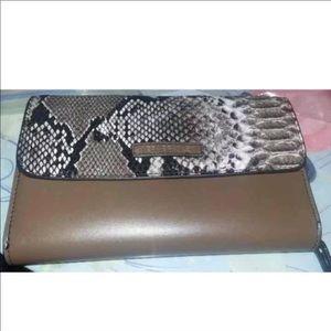 Vera Bradley Leather Ella Python  Wallet